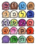 Hebrew Ice Cream Aleph Bet Cone Reading game