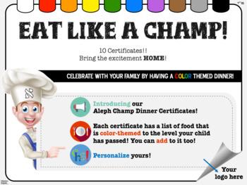 Aleph Champ Certificates!