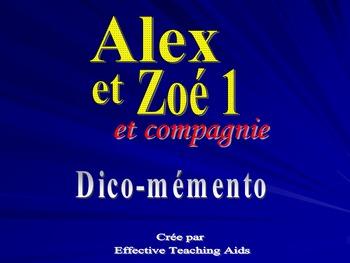 Alex et Zoe et compagnie dico-memento