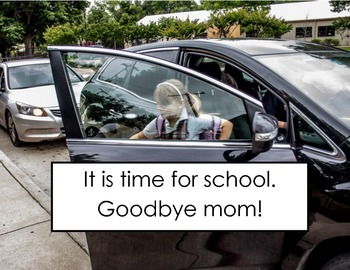Alexa Goes to School Transitions Book Early Childhood, Special Education, Autism