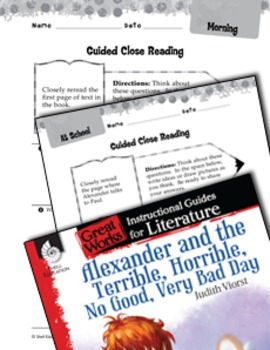 Alexander And The Terrible, Horrible: Close Reading And Text-Dependent Questions