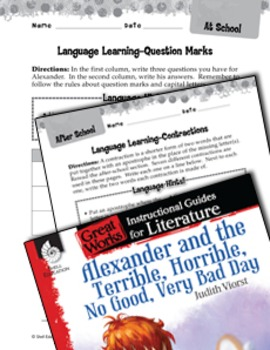 Alexander And The Terrible, Horrible: Language Learning Activities