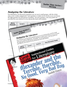 Alexander And The Terrible, Horrible: Leveled Comprehension Questions