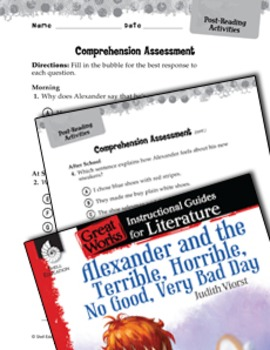 Alexander And The Terrible, Horrible: Post-Reading Activities