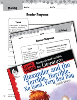 Alexander And The Terrible, Horrible: Reader Response Writing Prompts