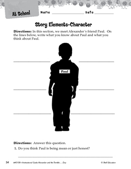 Alexander And The Terrible, Horrible: Studying The Story Elements