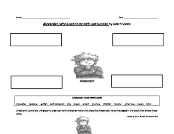 Alexander Character Trait Chart with Character Traits Box