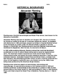 Alexander Fleming  Biography Article and Summary Assignments