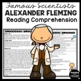 Alexander Fleming Biography Reading Comprehension; Penicillin, Scientist
