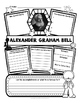 Alexander Graham Bell Research Organizers for Famous Inventors Research Projects