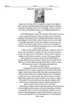 Alexander Graham Bell Bio and Questions