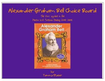 Alexander Graham Bell Choice Board from Pearson Scott Foresman Series