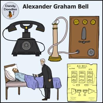 Alexander Graham Bell Clip Art by Dandy Doodles