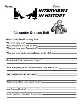 Alexander Graham Bell Research and interview Assignment