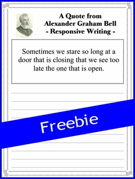 Alexander Graham Bell - Responsive Writing