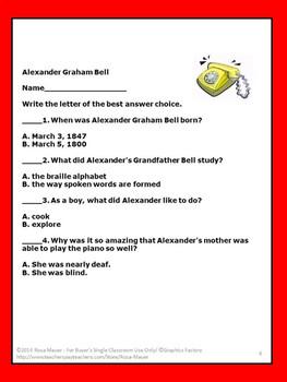 Alexander Graham Bell, Biography, Nonfiction, Famous Americans, Social Studies