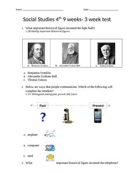 Alexander Graham Bell/Thomas Edison Inventors/Historical Figures Test