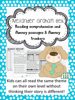 Alexander Graham Bell fluency and comprehension leveled passages