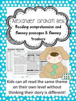 Alexander Graham Bell fluency and comprehension leveled passages