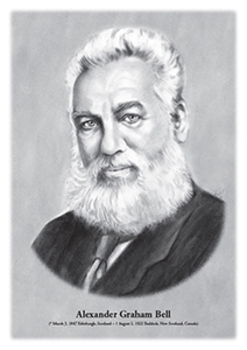 Alexander Graham Bell - original illustration