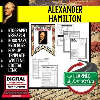 Alexander Hamilton Biography Research, Bookmark Brochure, Pop-Up, Writing Google