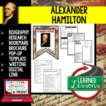 Alexander Hamilton Biography Research, Bookmark Brochure, Pop-Up, Writing Google
