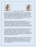 Alexander Hamilton Biography and Comprehension Questions