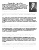Alexander Hamilton Biography with Questions