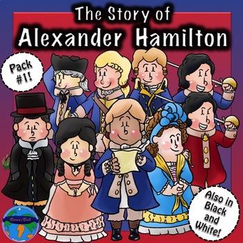 Alexander Hamilton CLIP ART Pack #1