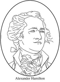 Alexander Hamilton Clip Art, Coloring Page, or Mini-Poster
