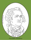 Alexander Hamilton Clip Art, Coloring Page, or Mini-Poster