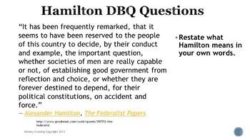 Alexander Hamilton DBQ Bell Ringers
