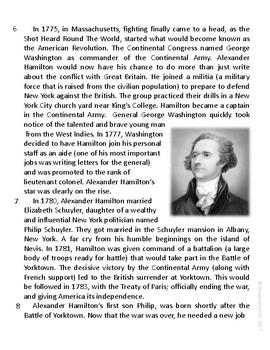 Alexander Hamilton ELA Informational Text Test Prep Passage Grades 4 and 5