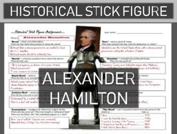 Alexander Hamilton Historical Stick Figure (Mini-biography)