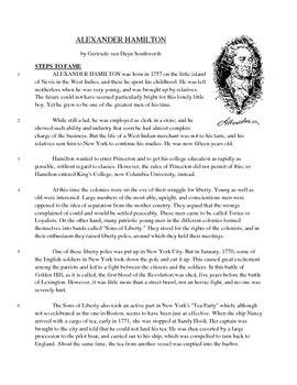 Alexander Hamilton - Informational Text Test Prep