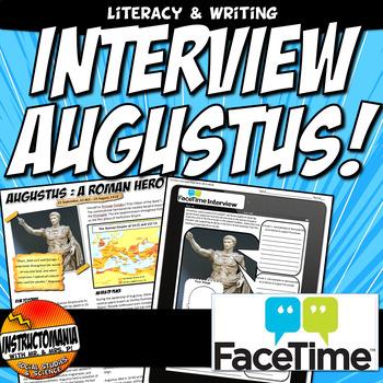 Augustus Ipad Time Machine Interview Printable Common Core