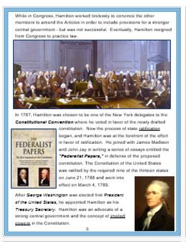 Alexander Hamilton + Quiz