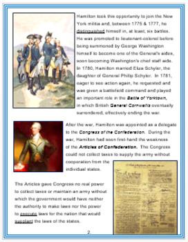 Alexander Hamilton + Assessment