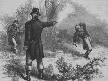 "Alexander Hamilton and Aaron Burr - Recreate the ""Hamilton-Burr Duel"" Image"