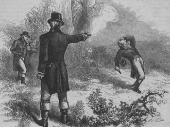 "Alexander Hamilton and Aaron Burr - Recreate the ""Hamilton-Burr Duel"" Image"
