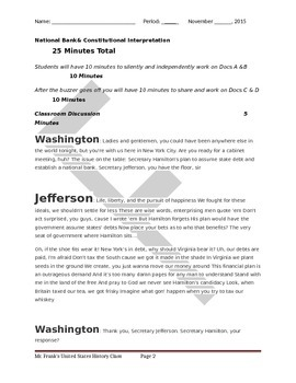 Alexander Hamilton and the National Bank
