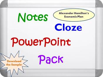 Alexander Hamilton's Economic Plan PowerPoint, Notes, and Activity Guide