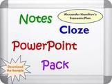 Alexander Hamilton's Economic Plan PowerPoint, Notes, and