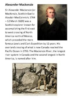 Alexander Mackenzie - explorer Handout