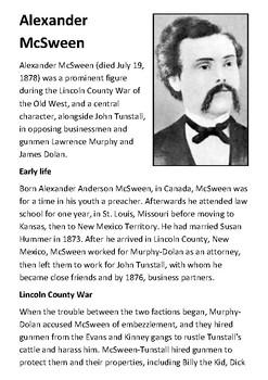Alexander McSween Handout