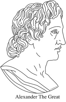 Alexander The Great Clip Art, Coloring Page, or Mini-Poster