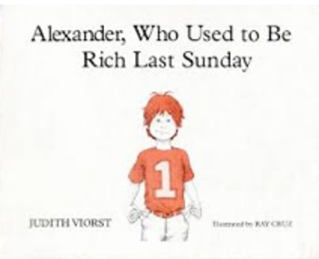 Alexander Who Used to Be Rich Last Sunday Math Activity