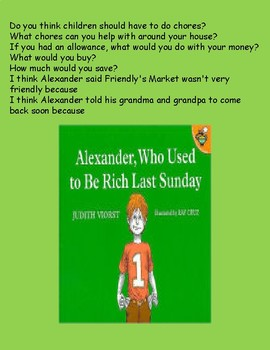 Alexander, Who Used to Be Rich Last Sunday (writing responses)