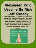 ReadyGen, Alexander, Who Used to Be Rich Vocabulary 2nd Grade, Unit 2 Module A