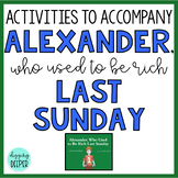 Alexander Who Used to be Rich Last Sunday Comprehension Ac